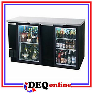 Beverage air Bev Air Bb68hc 1 g b Back Bar Refrigerator Glass Door Black Finish