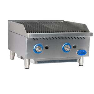 Globe Gcb24g cr Gas Countertop Cast Iron Radiant Charbroiler