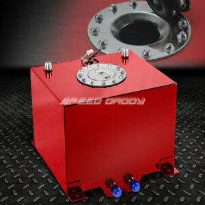 5 Gallon 18 8l Red Coat Aluminum Racing drift Fuel Cell Tank cap level Sender
