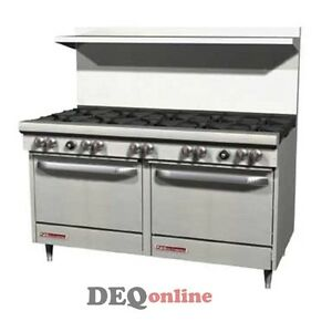Southbend S60dd 60 Gas Range W 10 Burners And 2 Standard Ovens