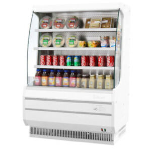 Turbo Air Tom 40m Vertical Open Display Case Cooler Medium Height In White