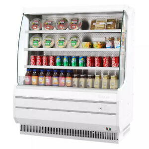 Turbo Air Tom 50m Vertical Open Display Case Cooler Medium Height In White