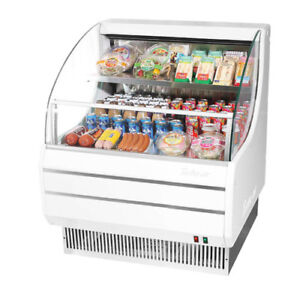 Turbo Air Tom 30l Open Display Case Cooler Low Profile In White