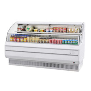 Turbo Air Tom 75l Open Display Case Cooler Low Profile In White