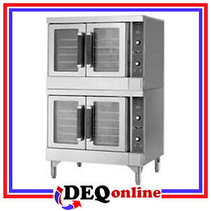 Vulcan Vc44ed 480v Double Deck Electric Convection Oven Stainless Steel 480v