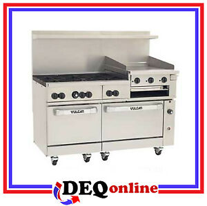Vulcan 60ss 6b24gb 60 Gas Range 6 Burners W 24 Griddle Broiler Ng Or Lp
