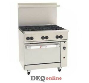 Wolf C36s 6b Challenger Xl Gas Restaurant Range 6 Open Burners 36 Wide Ng Or Lp