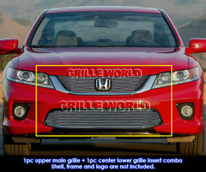 Fits 2013 2015 Honda Accord Coupe Billet Grill Insert Combo