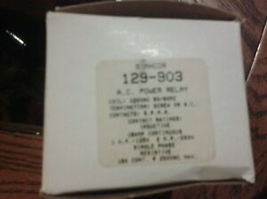 New Stancor Ac Power Relay 129 903 120vac 18a Amp