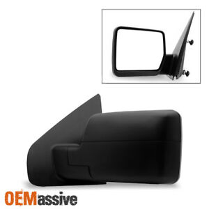 Fit 2004 2014 Ford F150 Pickup Textured Manual Mirror Driver Side Replacement