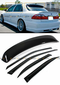 98 2002 6th Gen Honda Accord Sedan Jdm Smoke Rear Roof Window Door Visor Combo