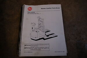 Bt Prime Mover Wsx 22 30 40 Straddle Slacker Truck Parts Manual Catalog Book