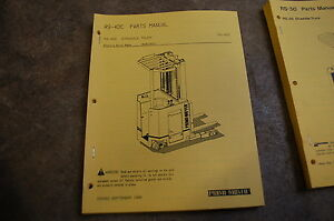 Bt Prime Mover Rs40c Electric Forklift Straddle Truck Parts Manual Catalog Book