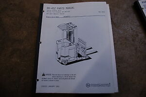 Bt Prime Mover Rr45z Reach Truck Electric Forklift Parts Manual Catalog Book