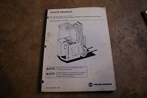 Bt Prime Mover Rc 30b 40b 50b Electric Forklift Truck Parts Manual Catalog Book