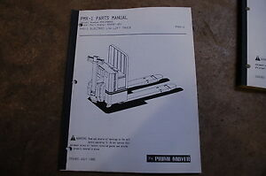 Bt Prime Mover Pmx 1 Electric Pallet Truck Jack Parts Manual Catalog Book 1990