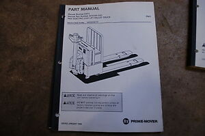 Bt Prime Mover Pmx Electric Pallet Truck Jack Parts Manual Catalog Book 1994 Oem