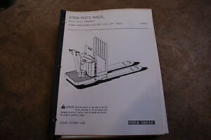 Bt Prime Mover Ht80w Electric Low Lift Pallet Truck Parts Manual Catalog Book
