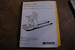 Bt Prime Mover Ht60w Electric Low Lift Pallet Truck Parts Manual Catalog Book