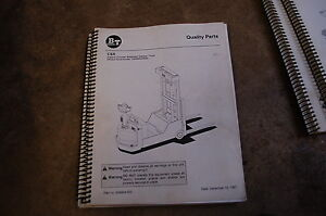 Bt Prime Mover Csx Electric Stacker Pallet Truck Parts Manual Catalog Book 1997
