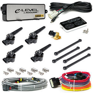 Accuair E level Air Suspension Leveling Kit Electronic Air Bag System Nickel