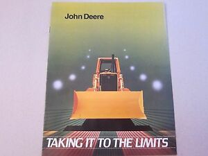 1983 John Deere Crawler Dozer Brochure Taking It To The Limits Lots More Listed