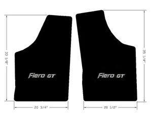 New 1984 1988 Black Floor Mats Pontiac Fiero With Silver Gt Logo Embroidery
