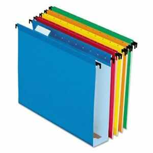 Pendaflex Hanging File Folders Assorted 2 Expansion 20 box pfx6152x2asst