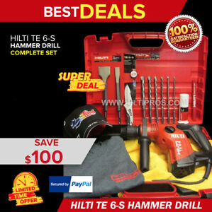 Hilti Te 6 s Hammer Drill Preowned free Chisels bits knife hat t shirt fast Ship