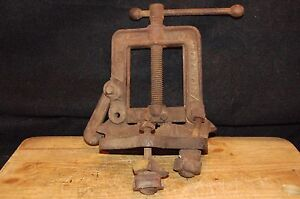 Vintage No M 2 1 2 Inch Hd Plumbing Pipe Bench Vise 1 8 2 1 2 cast Iron f2