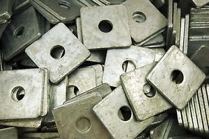 40 Galvanized 1 2 X 2 Square Plate Washers 3 16 Thick