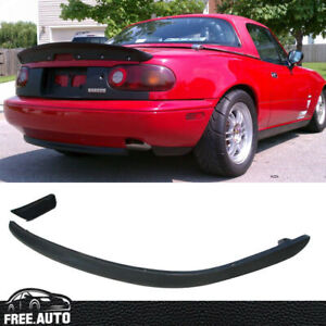 Black Pu Rs Rear Bumper Lip Bodykit Spoiler For 90 97 Mazda Miata Mx5