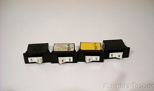 Lot Of 4 New Airpax On Off Rocker Switches 16a 120v Bkr 74 203 1 2807 1