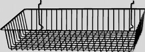 Slatwall Gridwall Grid Wire Basket Display 24 w X 12 d X 4 h Black Lot Of 6 New