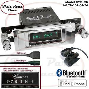 Retrosound 49 56 Cadillac Model 2 Cb Radio Bluetooth Ipod Usb Rds 3 5mm Aux In