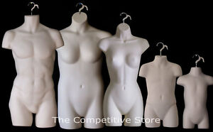 Fleshtone Female Dress Male Child Toddler Plus Size Mannequin Display Forms