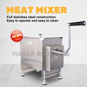 Hakka Manual Meat Mixer 40 Pound 20 Liter Capacity Tank Commercial Food Mixers