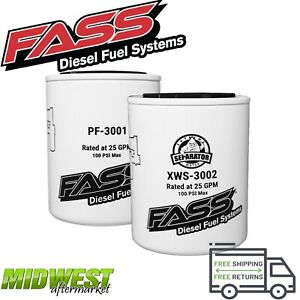 Fass Fuel System Replacement Fuel Filter Water Separator Grey Titanium Series