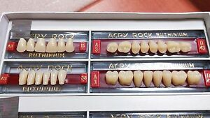 4 Sets 112 Teeth Denture Acrylic Teeth Ruthinium Acryrock Size 15 A3