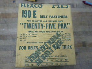 Flexco Hd 190e Conveyor elevator Belt Fasteners 1 i 1