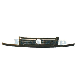 93 99 Vw Cabrio Golf Front Face Bar Grill Grille Assembly Black Shell Insert
