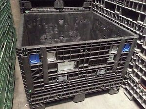 Pallet Box Storage Container Automotive Bin Collapsible Ropak Xytec Knockdown