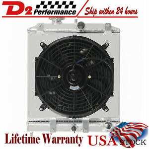 Aluminum Radiator shroud Fan Fit Honda Civic 92 00 D15 D16 Ek Eg