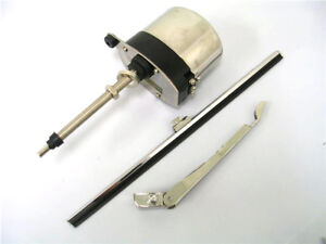 12v Stainless Windshield Wiper Motor Kit Street Rat Rod Chevy Ford Mopar Jeep Ss