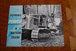 Caterpillar 955 977 Loader Crawler Skidder Logging Sales Brochure Vintage Rare