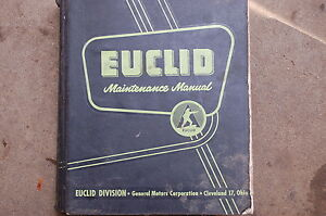 Euclid Td Dump Truck Owner Maintenance Service Repair Manual Book Shop Rock Haul