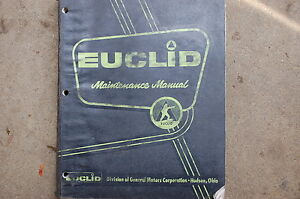 Euclid 65 71 Rear Dump Truck Maintenance Service Repair Manual Book Rock Quarry