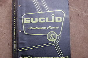 Euclid 1963 Td Rear Dump Truck Overhaul Maintenance Service Repair Manual Book