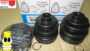 Front Inner Outer Cv Axle Boot Kit For Mitsubishi Montero W 2 6l 1987 1989