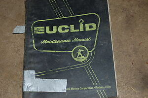 Euclid 1 64 Td Rock Haul Dump Truck Maintenance Service Repair Manual Book Shop